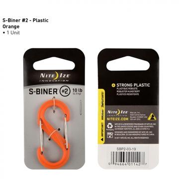 Oboustranná karabina Nite Ize S-Biner – velikost 2, barva oranžová (4,5kg)