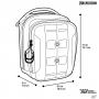 Pouzdro Maxpedition Accordion Utility Pouch (AUP) AGR / 19x16 cm Black