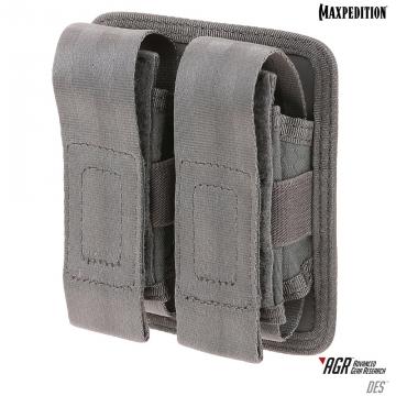 Dvojité pouzdro Maxpedition Double Sheath Pouch (DES) / 10x4x13 cm Grey