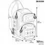 Batoh přes rameno Maxpedition EDGEPEAK (EDP) AGR / 15L / 28x23x38 cm Tan