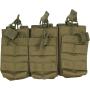 Tři dvojité sumky na zásobníky M4 Viper Tactical Duo Mag Pouch - Treble Green