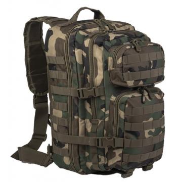 Batoh přes rameno MilTec Assault L / 29L / 48x33x27cm WoodLand