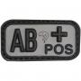 Nášivka na suchý zip AB+ Black Viper Tactical/ 5x2.5cm