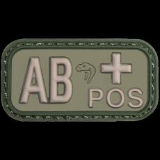 Nášivka na suchý zip AB+ Green Viper Tactical / 5x2.5cm