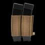 Elasticka sumka na zásobníky SMG na suchý zip Viper Tactical VX Double SMG Mag Sleeve Dark Coyote