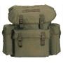 Batoh MilTec GERMAN COTTON IMP. RUCKSACK  / 25L / 38x12x44cm Green