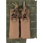 Dvojité pouzdro na zásobníky pro pistole na suchý zip MilTec (134958) Dark Coyote