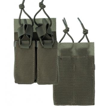 Dvojité pouzdro na zásobníky pro pistole na suchý zip MilTec (134958) Green