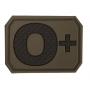 Nášivka na suchý zip MilTec 0+ OD Green / 3,8x2,8cm