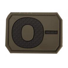 Nášivka na suchý zip MilTec 0- OD Green / 3,8x2,8cm