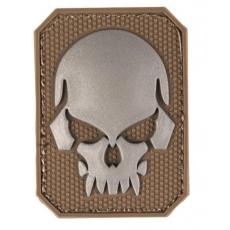 Nášivka na suchý zip MilTec SKULL Dark Coyote / 5,5x4cm