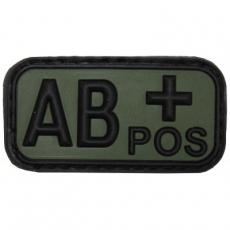 Nášivka na suchý zip MFH AB+ OD-Green / 5x2,5cm