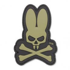 Nášivka na suchý zip 101 Inc. Skull Bunny OD Green / 90x65mm