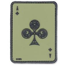 Nášivka na suchý zip 101 Inc. Ace Of Clubs - OD Green / 60x80mm